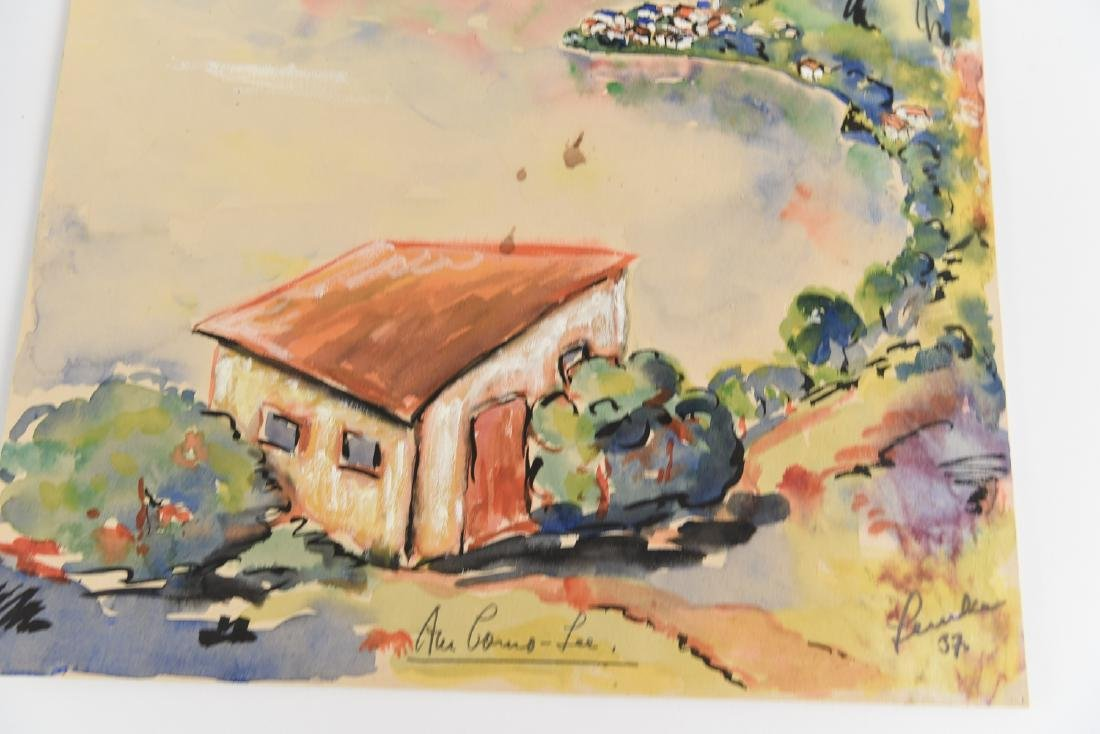 (2) SIGNED WATERCOLOR LANDSCAPES DATED 1939 - 6