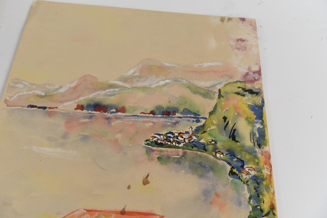 (2) SIGNED WATERCOLOR LANDSCAPES DATED 1939 - 7