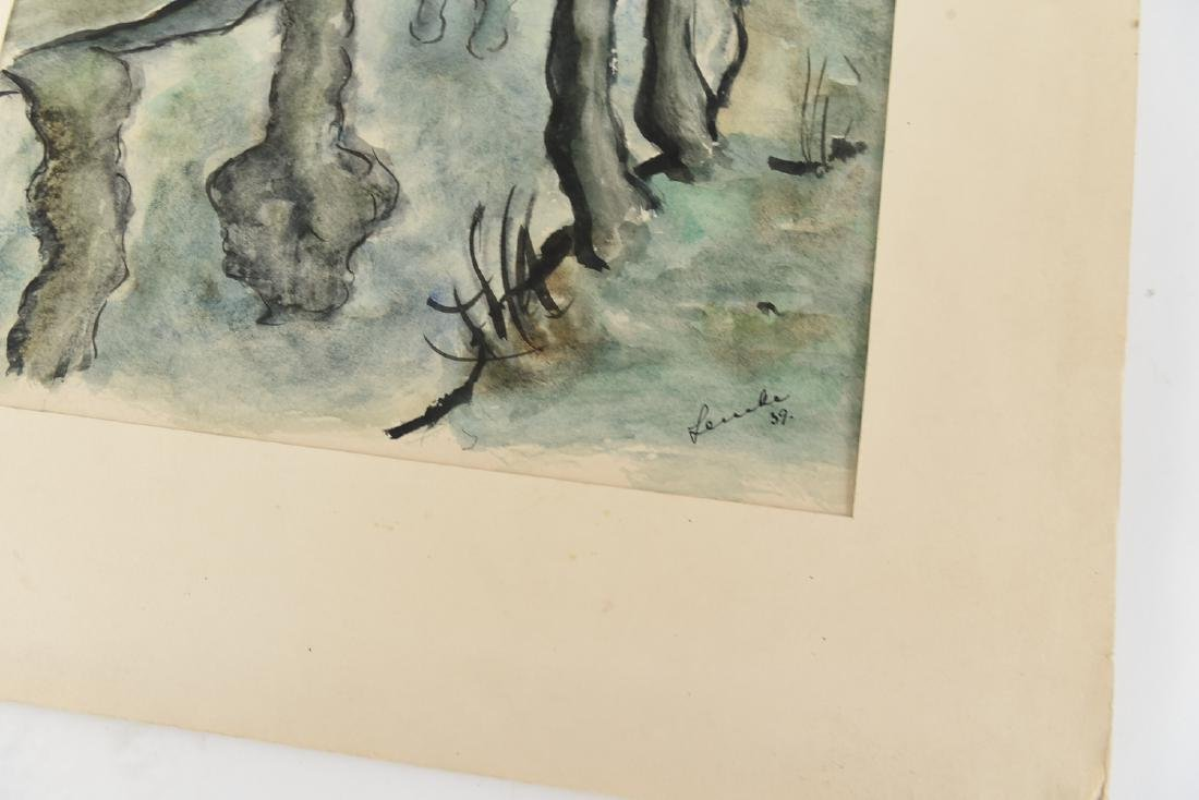 (2) SIGNED WATERCOLOR LANDSCAPES DATED 1939 - 8