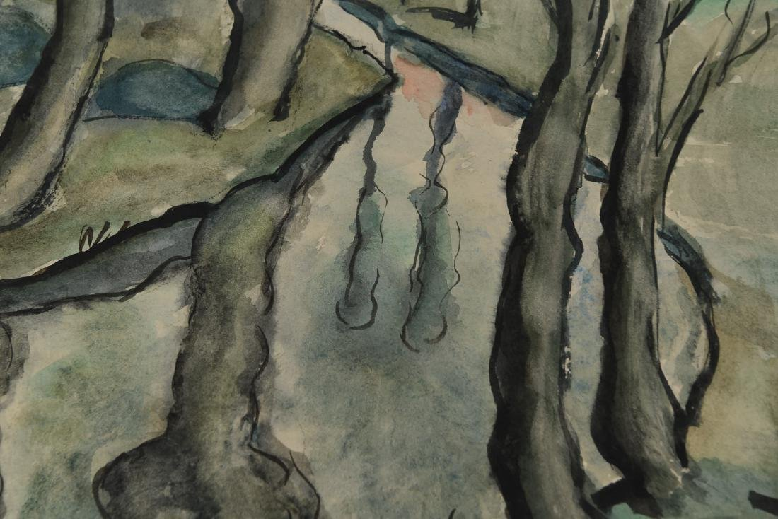 (2) SIGNED WATERCOLOR LANDSCAPES DATED 1939 - 9