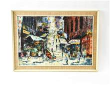 B. FORD ABSTRACT CITYSCAPE PAINTING