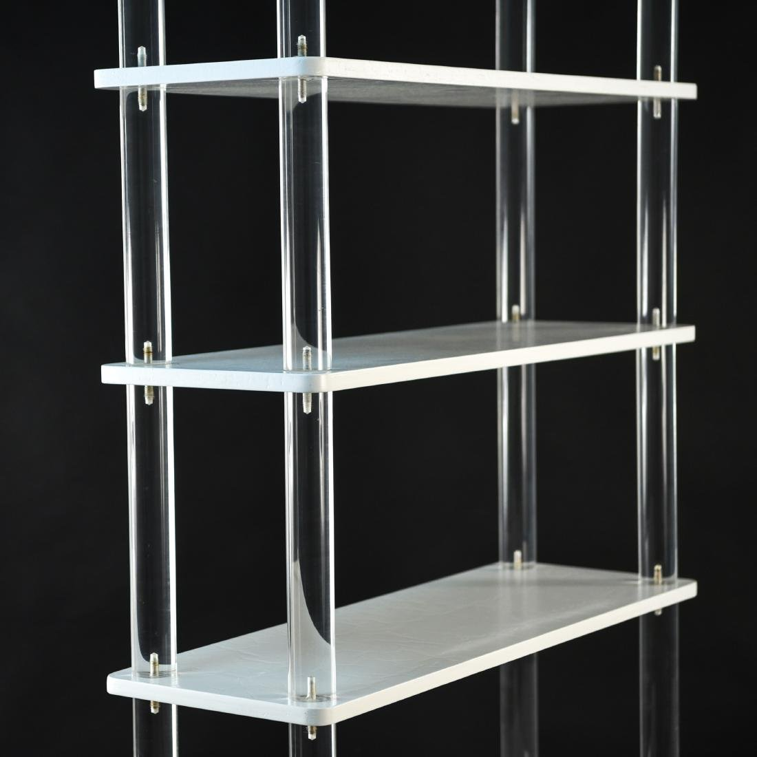 LUCITE & LACQUERED WOOD ETAGERE - 2