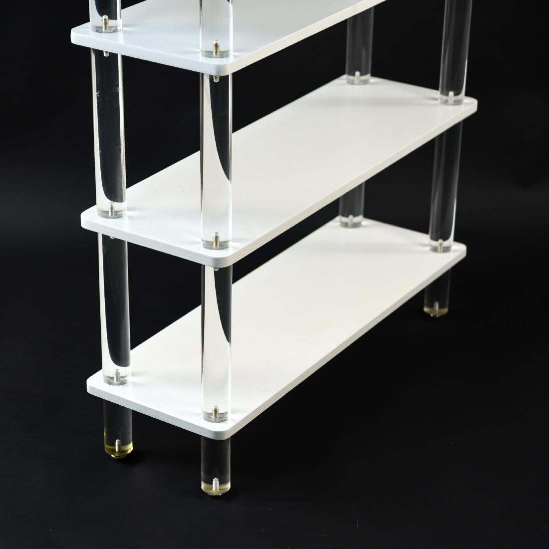 LUCITE & LACQUERED WOOD ETAGERE - 3
