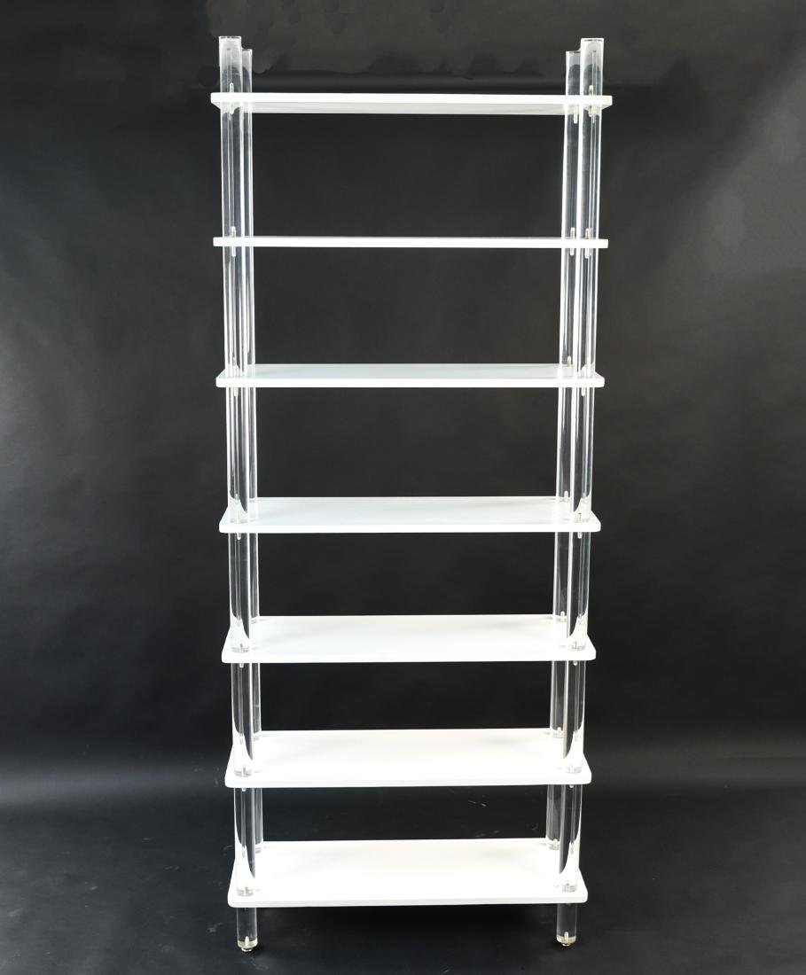 LUCITE & LACQUERED WOOD ETAGERE - 4