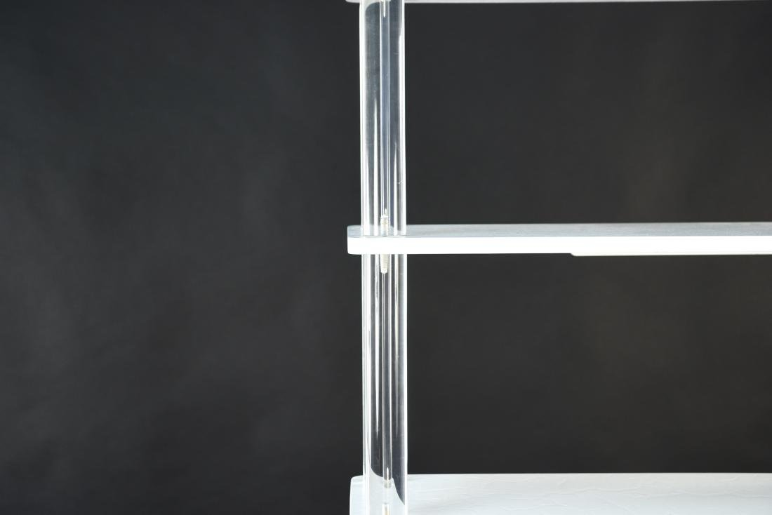 LUCITE & LACQUERED WOOD ETAGERE - 5