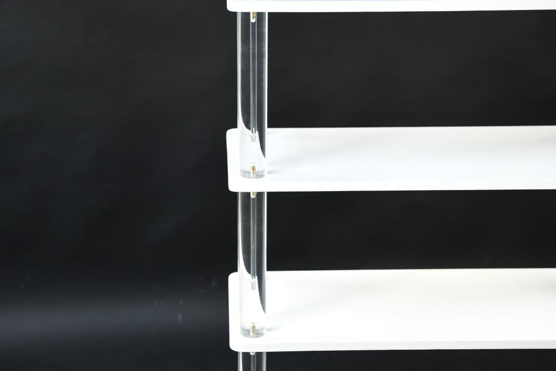 LUCITE & LACQUERED WOOD ETAGERE - 6