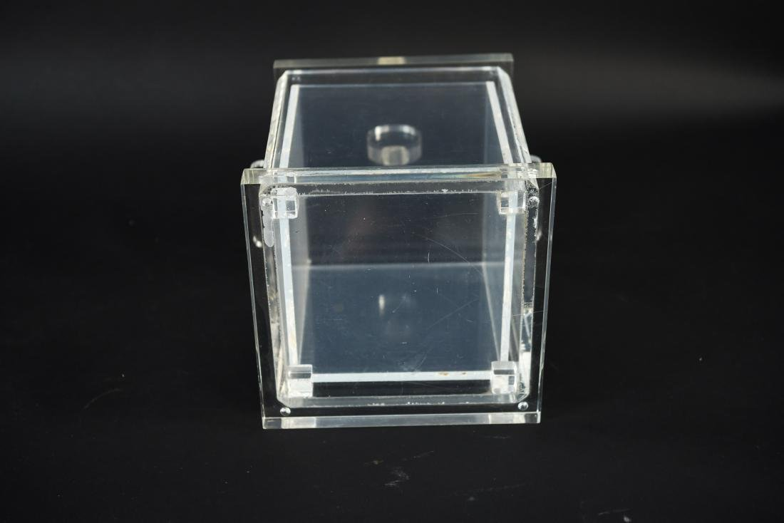 LUCITE ICE BUCKET WITH LINER - 10