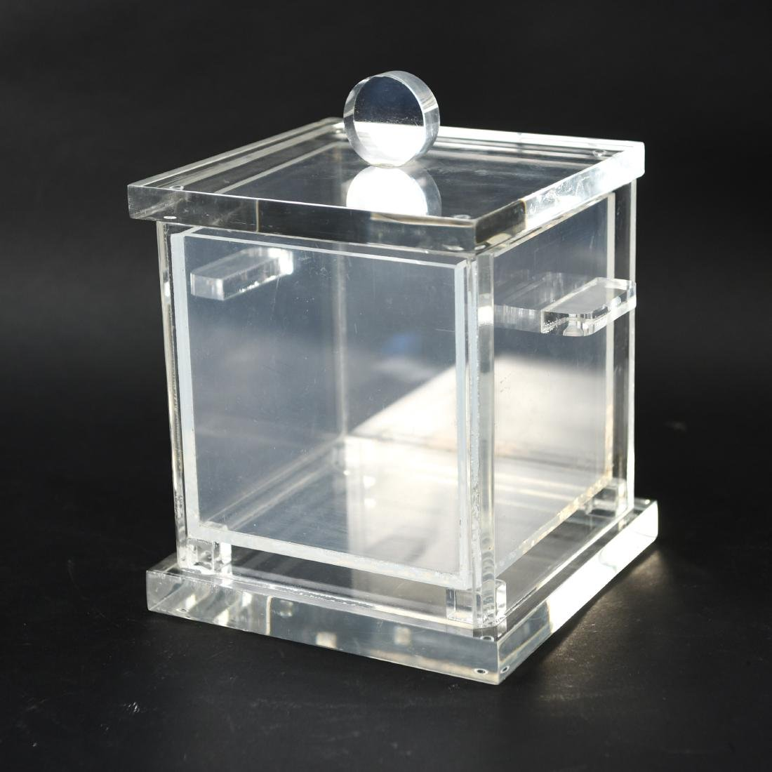 LUCITE ICE BUCKET WITH LINER