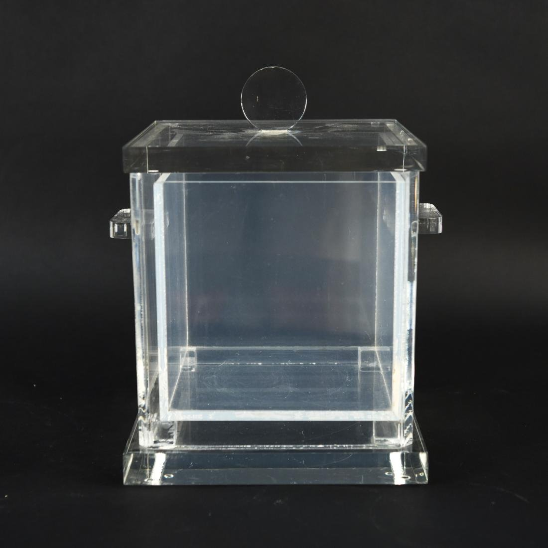 LUCITE ICE BUCKET WITH LINER - 2