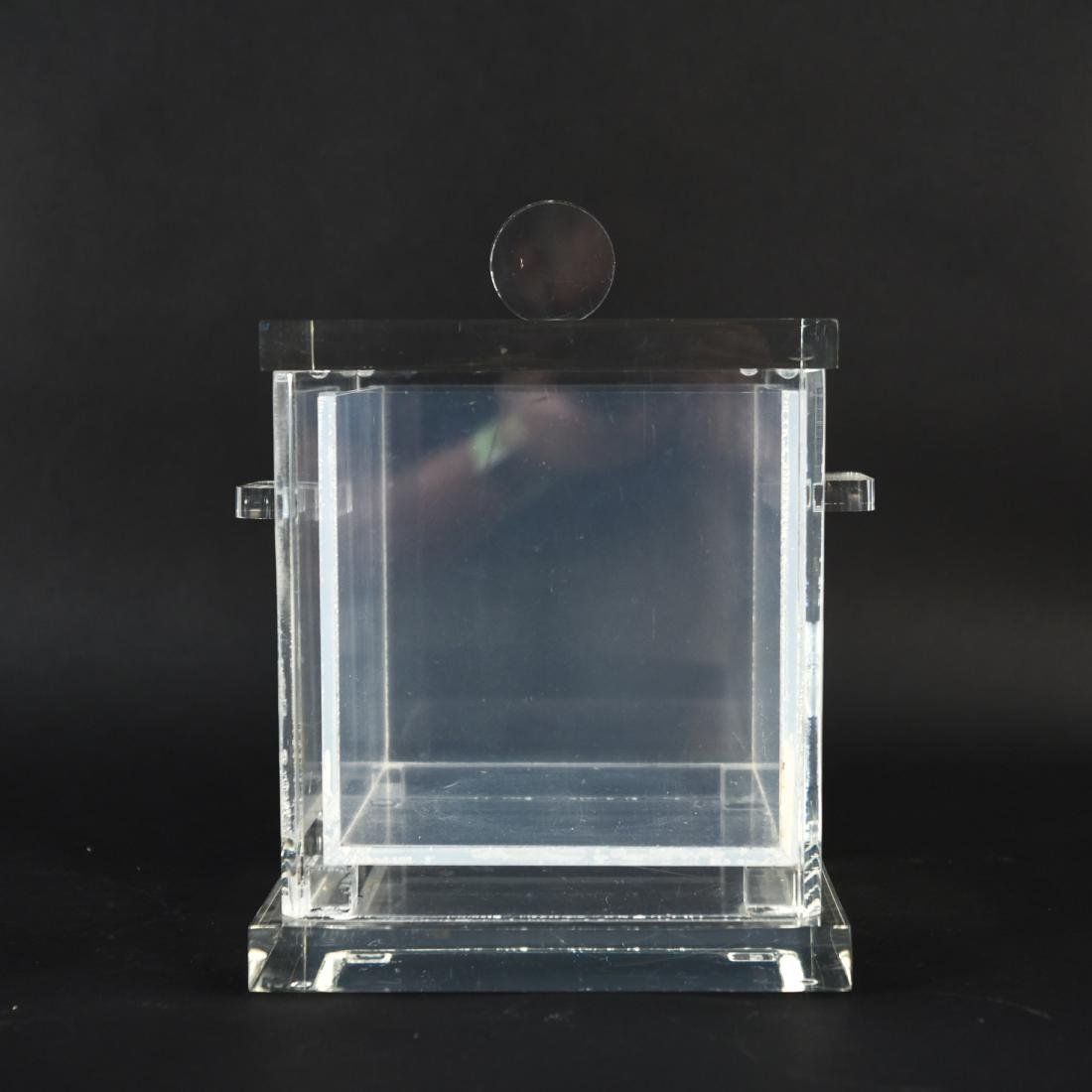 LUCITE ICE BUCKET WITH LINER - 3
