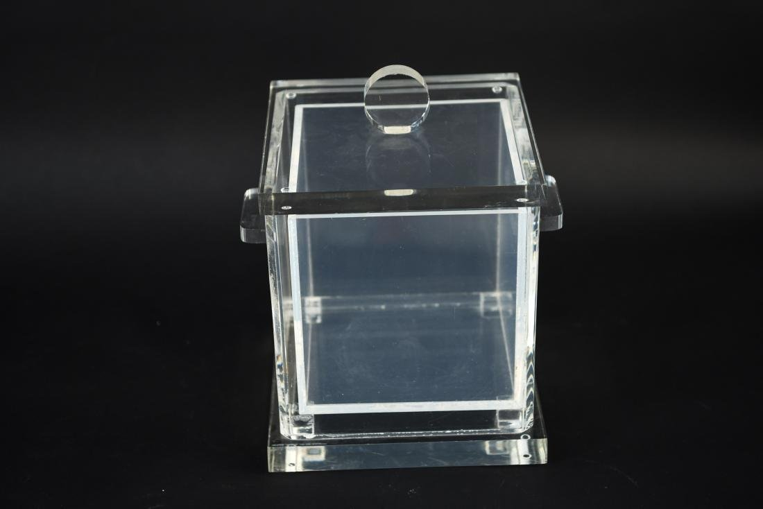LUCITE ICE BUCKET WITH LINER - 4