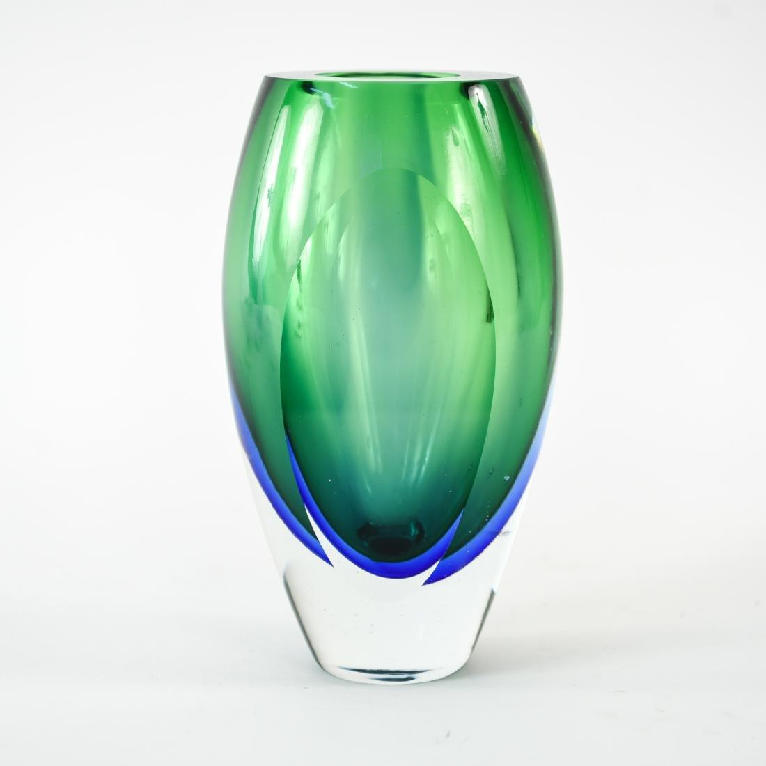 ITALIAN MURANO SOMMERSO GLASS VASE
