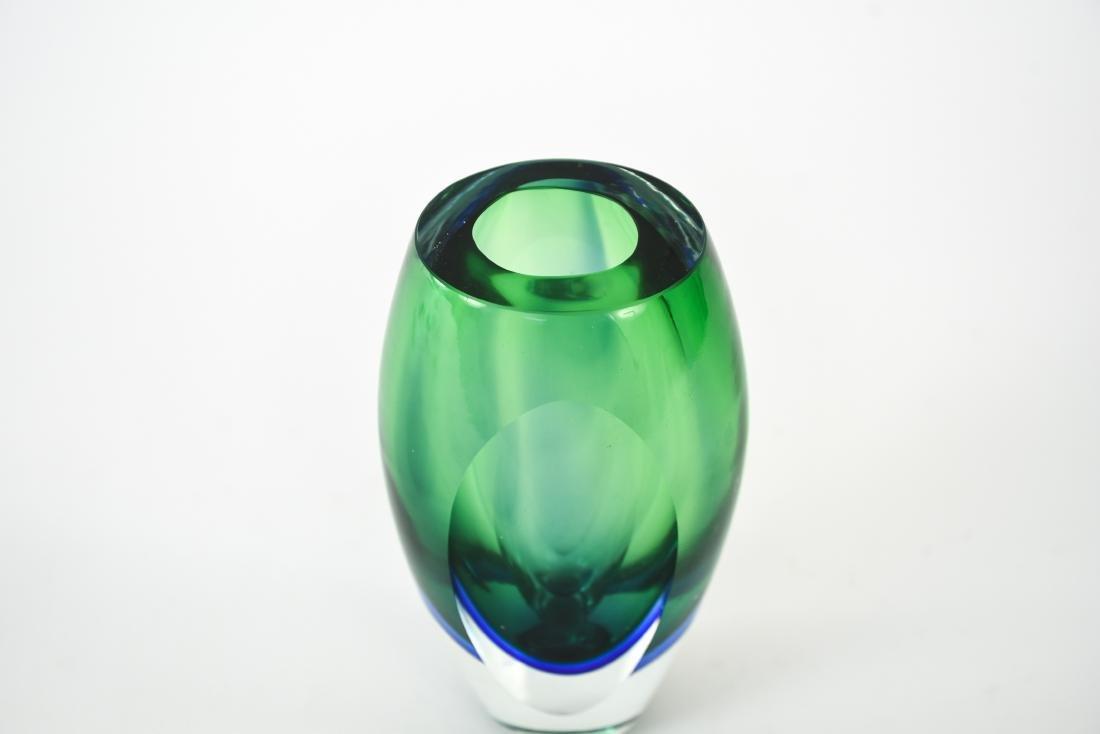 ITALIAN MURANO SOMMERSO GLASS VASE - 2