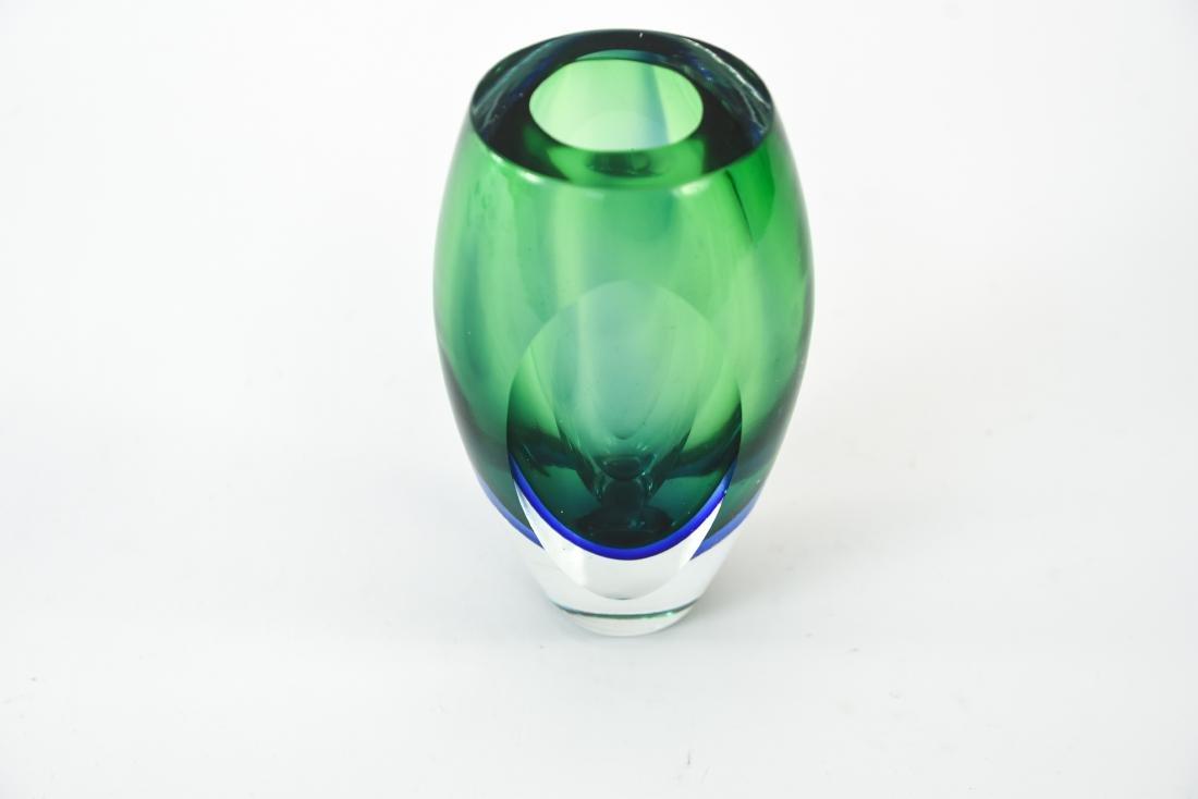 ITALIAN MURANO SOMMERSO GLASS VASE - 3