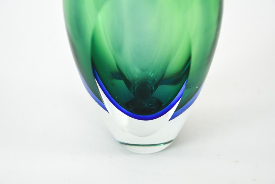 ITALIAN MURANO SOMMERSO GLASS VASE - 4