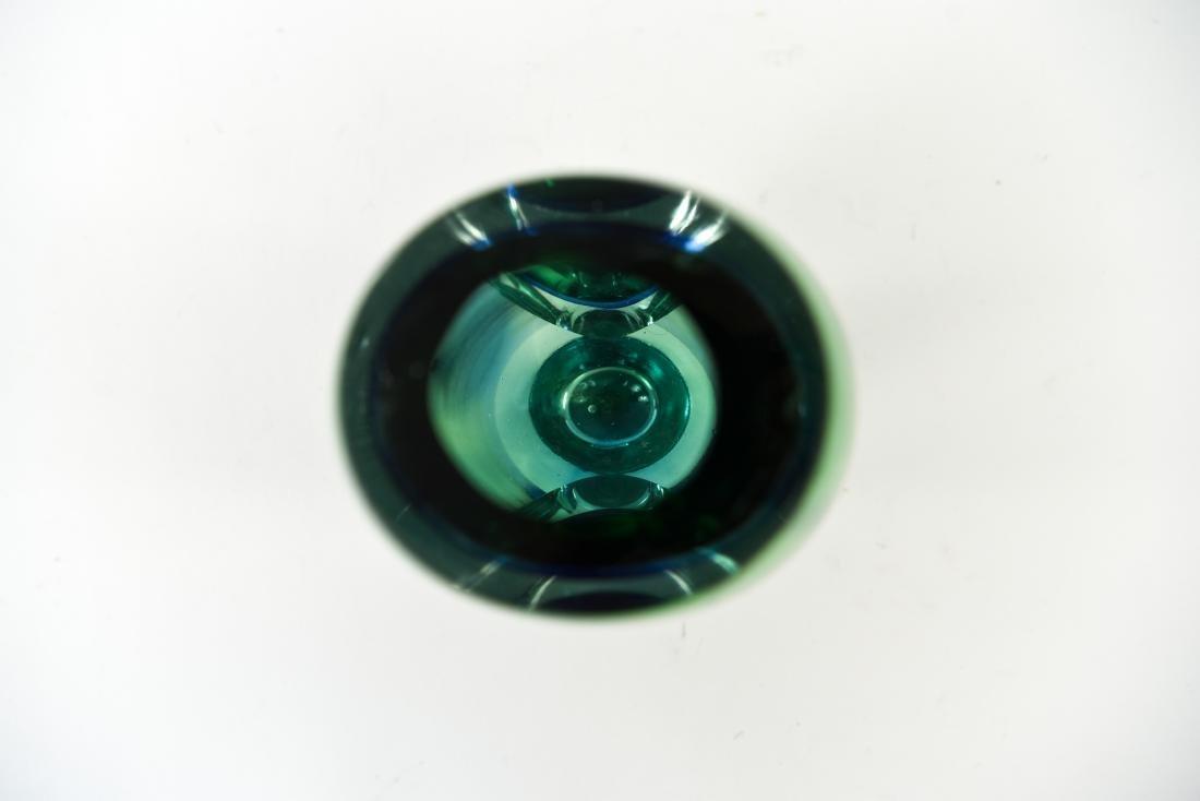 ITALIAN MURANO SOMMERSO GLASS VASE - 5