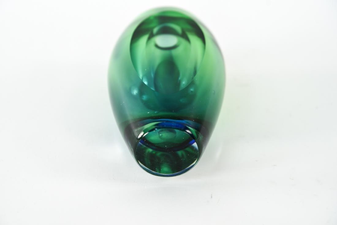 ITALIAN MURANO SOMMERSO GLASS VASE - 6