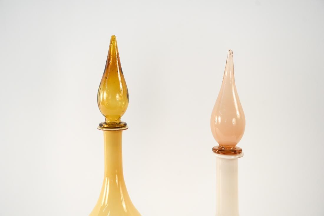 (2) MID-CENTURY ITALIAN CASED GLASS DECANTERS - 2