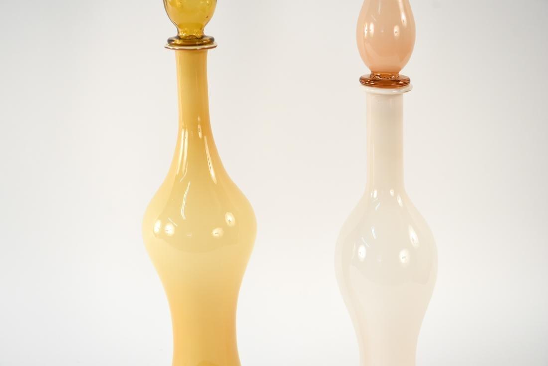 (2) MID-CENTURY ITALIAN CASED GLASS DECANTERS - 3