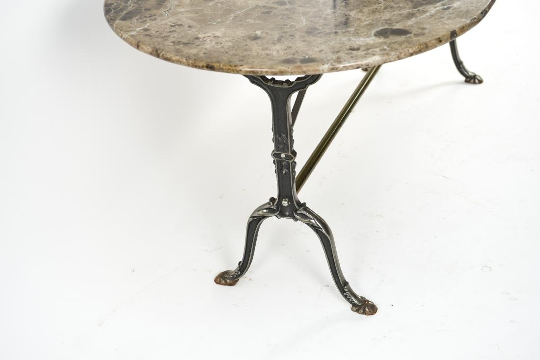 IRON AND MARBLE TOP CONSOLE TABLE - 5
