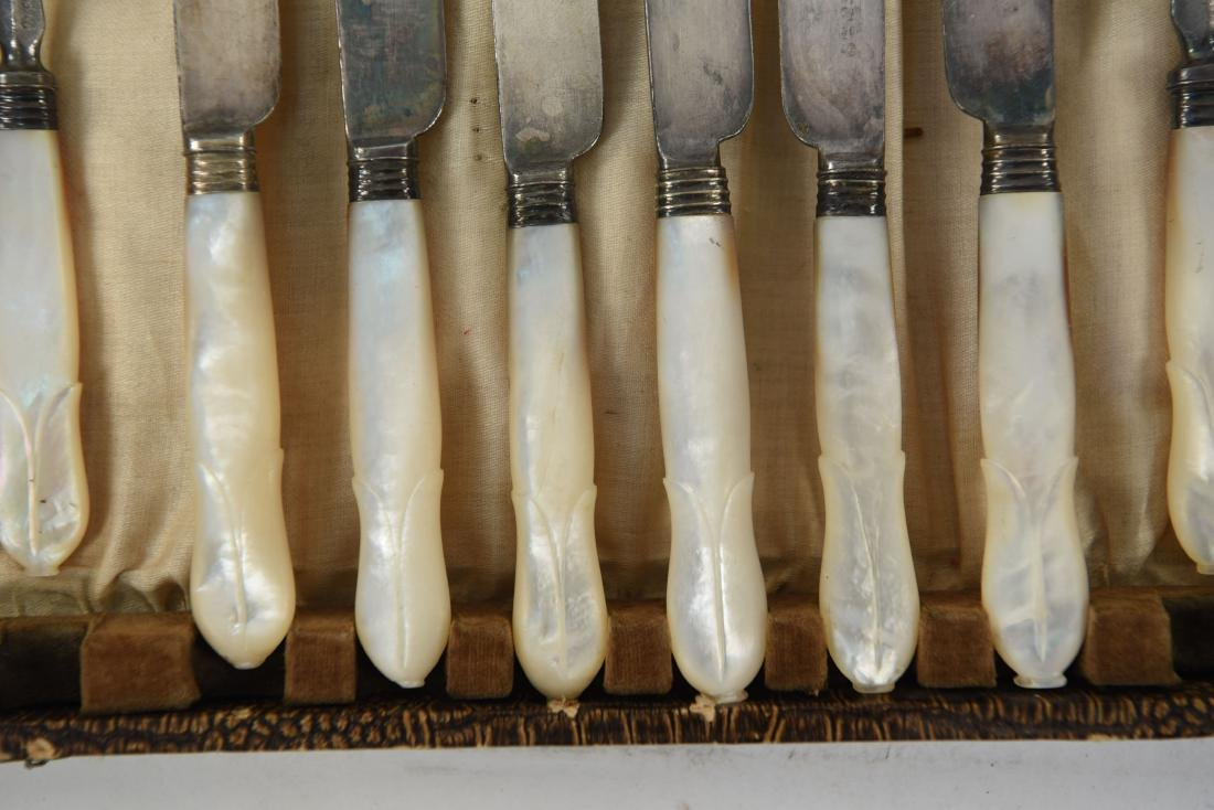 MOTHER OF PEARL HANDLED CUTLERY - 4