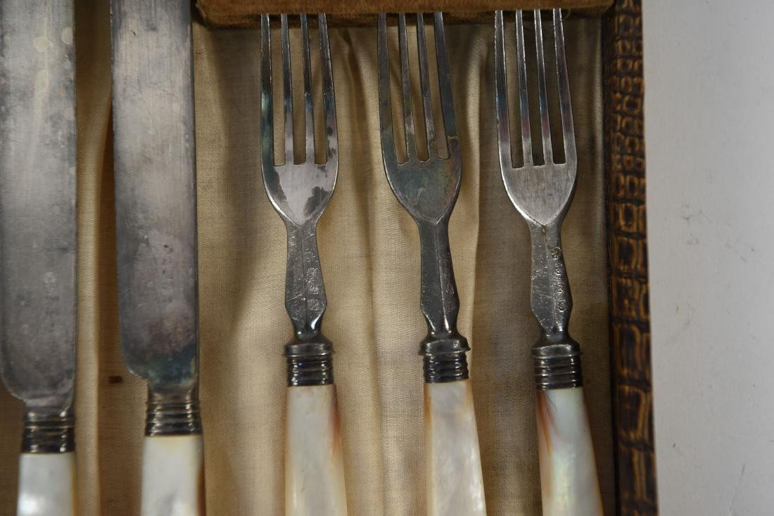 MOTHER OF PEARL HANDLED CUTLERY - 5