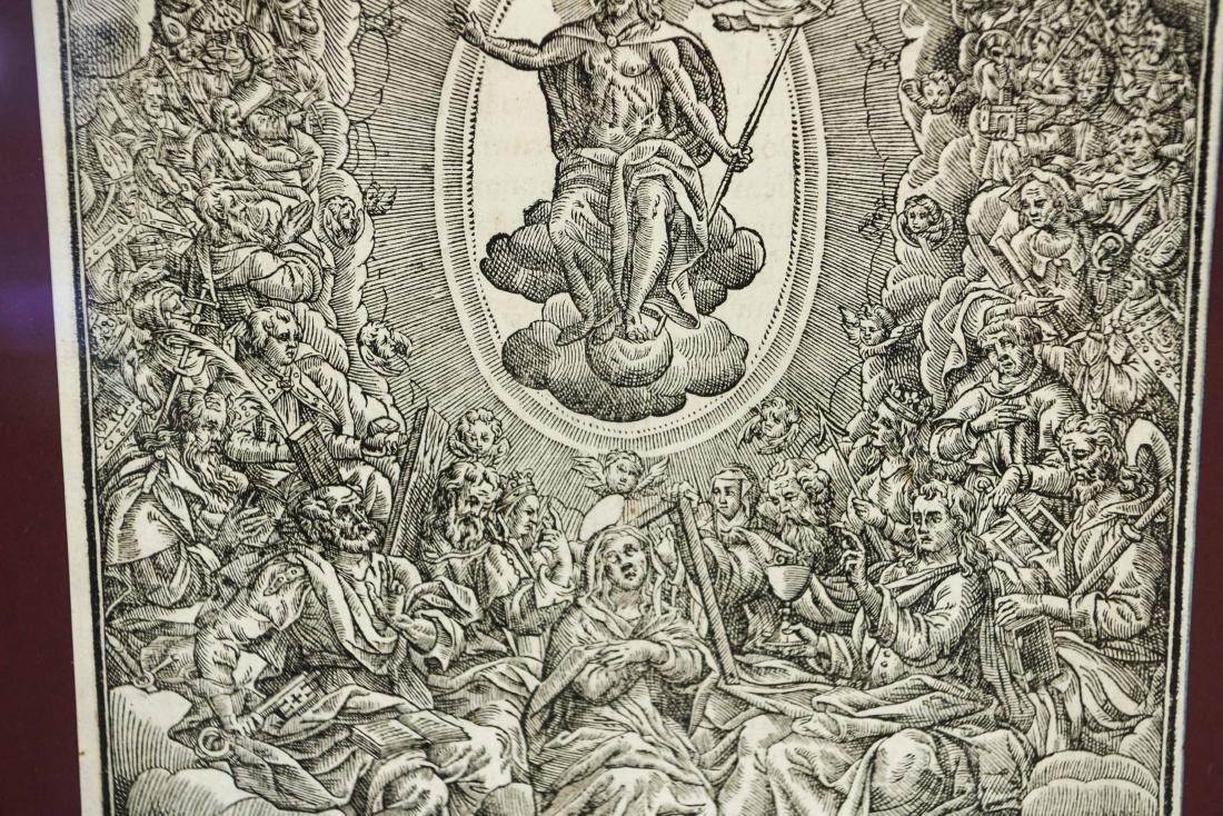 RENAISSANCE WOODCUT OF CHRIST IN MAJESTY - 3