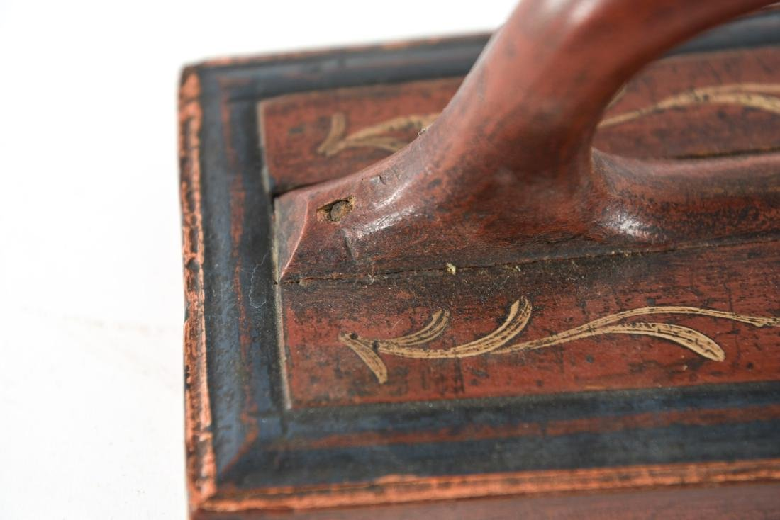 PAINT DECORATED ANTIQUE MANGLE BOARD 1863 - 5