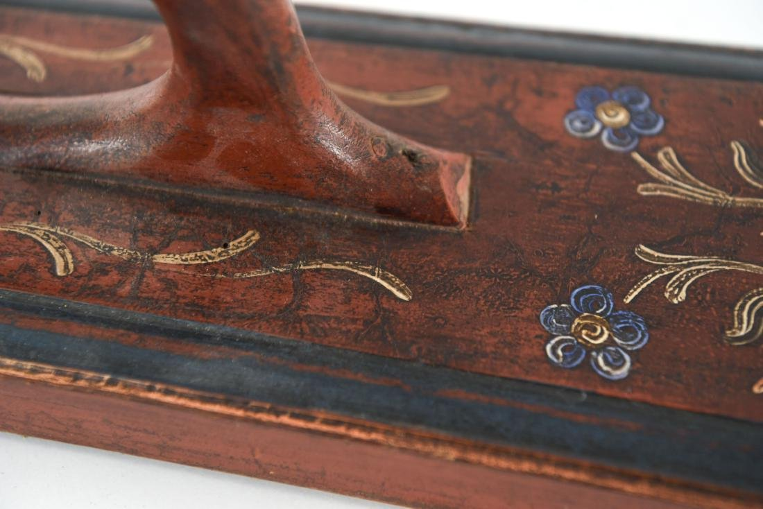 PAINT DECORATED ANTIQUE MANGLE BOARD 1863 - 6