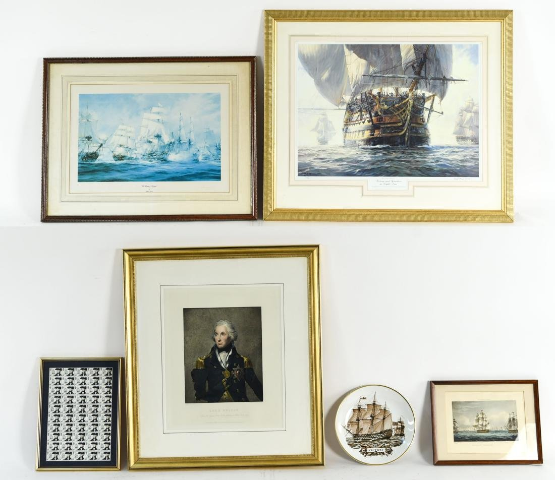 COLLECTION OF ADMIRAL NELSON PRINTS ETC.