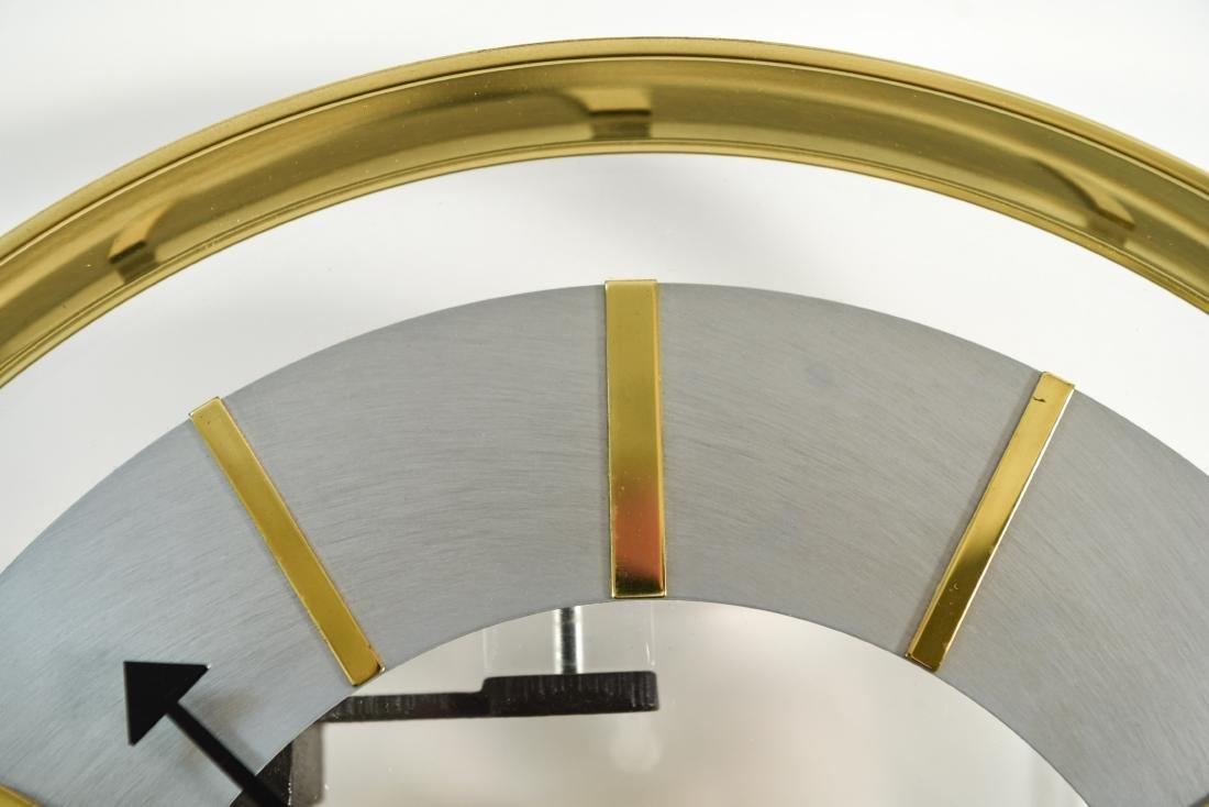 HOWARD MILLER MODERN GLASS & BRASS WALL CLOCK - 4