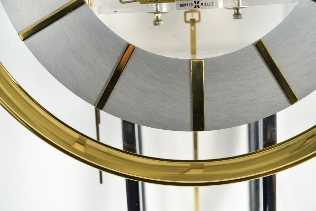 HOWARD MILLER MODERN GLASS & BRASS WALL CLOCK - 6