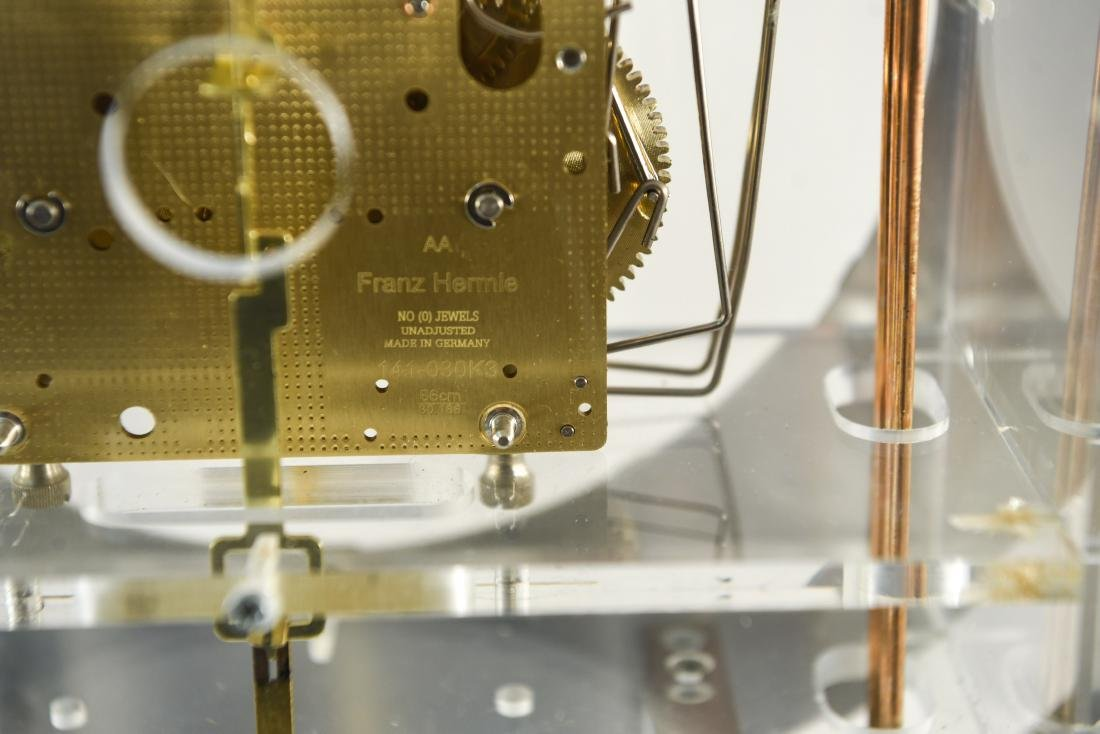 HOWARD MILLER MODERN GLASS & BRASS WALL CLOCK - 7