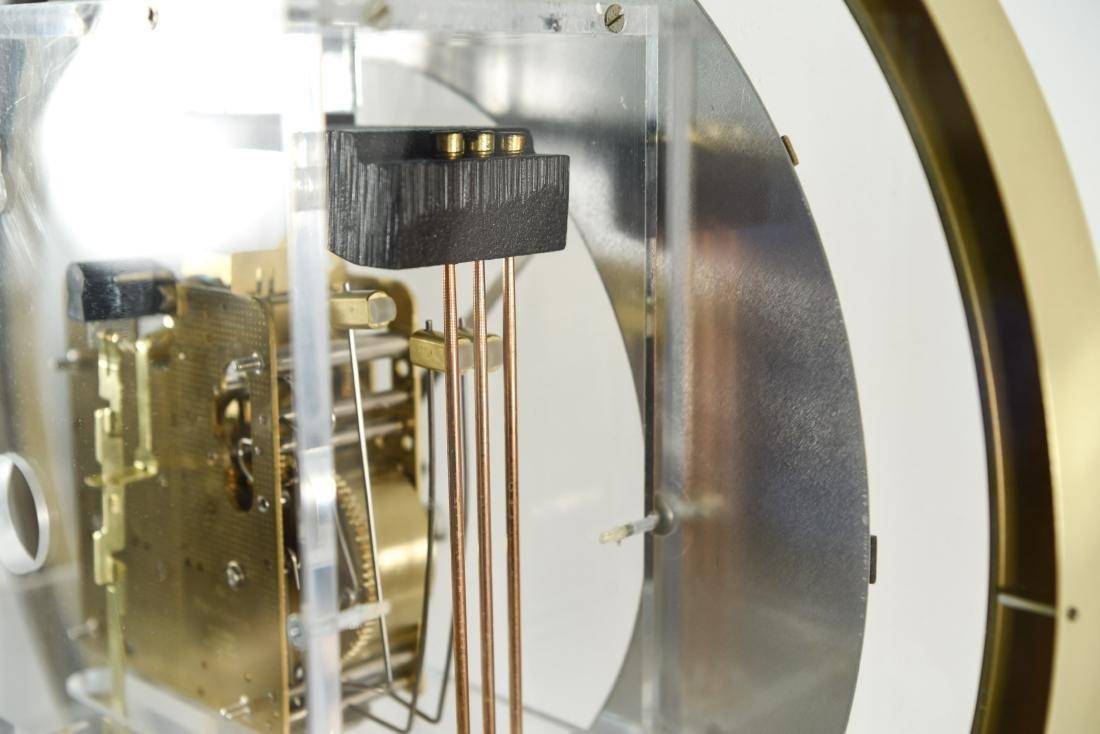 HOWARD MILLER MODERN GLASS & BRASS WALL CLOCK - 9