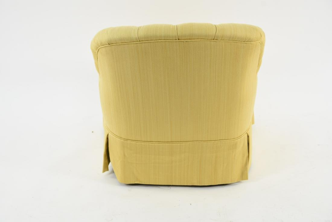 TUFTED YELLOW CLUB CHAIR - 10
