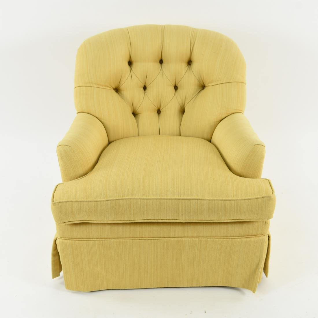 TUFTED YELLOW CLUB CHAIR - 2