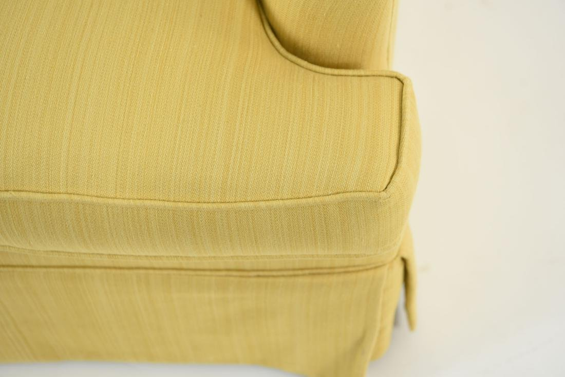 TUFTED YELLOW CLUB CHAIR - 4