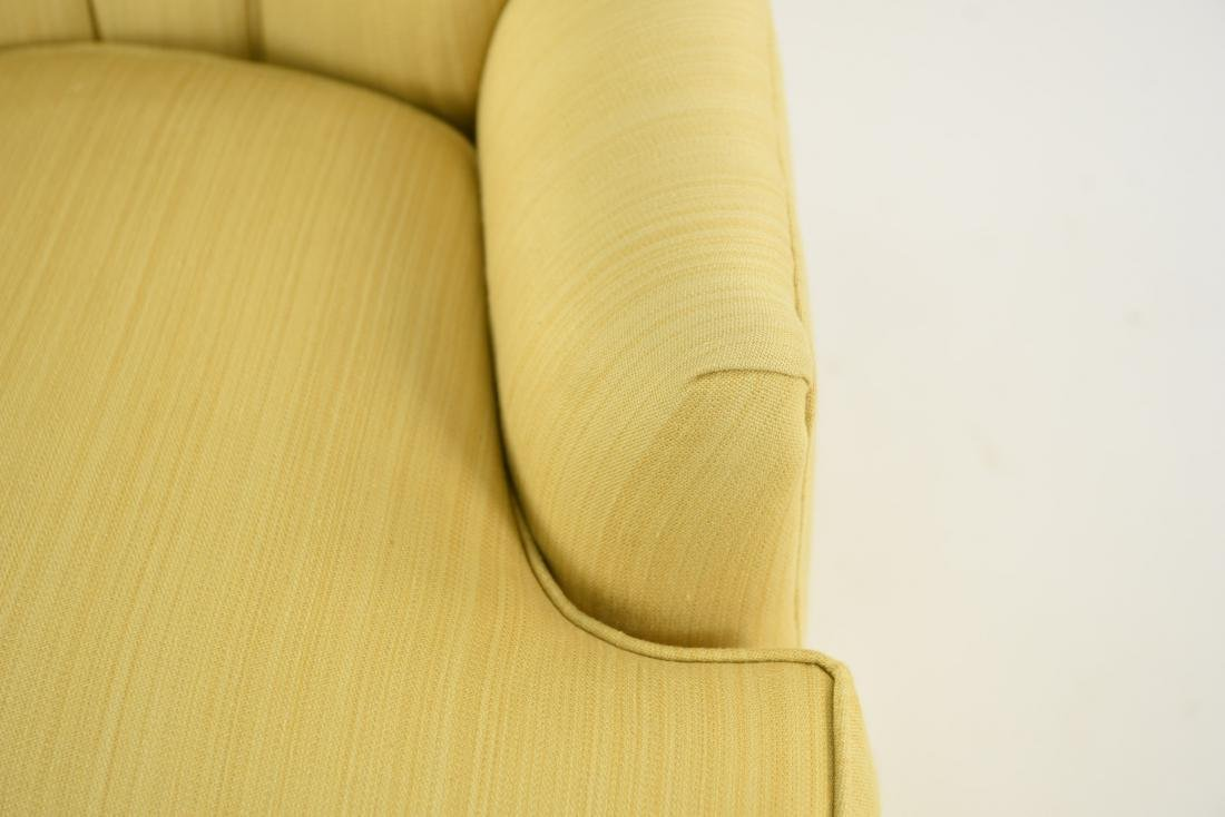 TUFTED YELLOW CLUB CHAIR - 5
