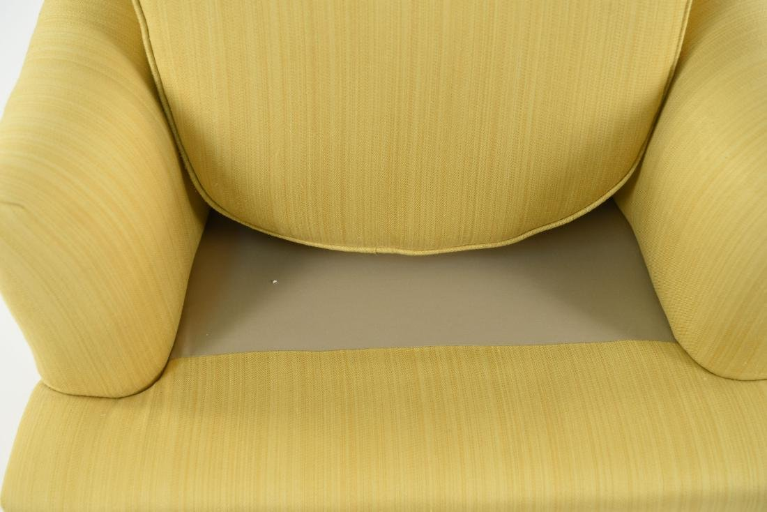 TUFTED YELLOW CLUB CHAIR - 7