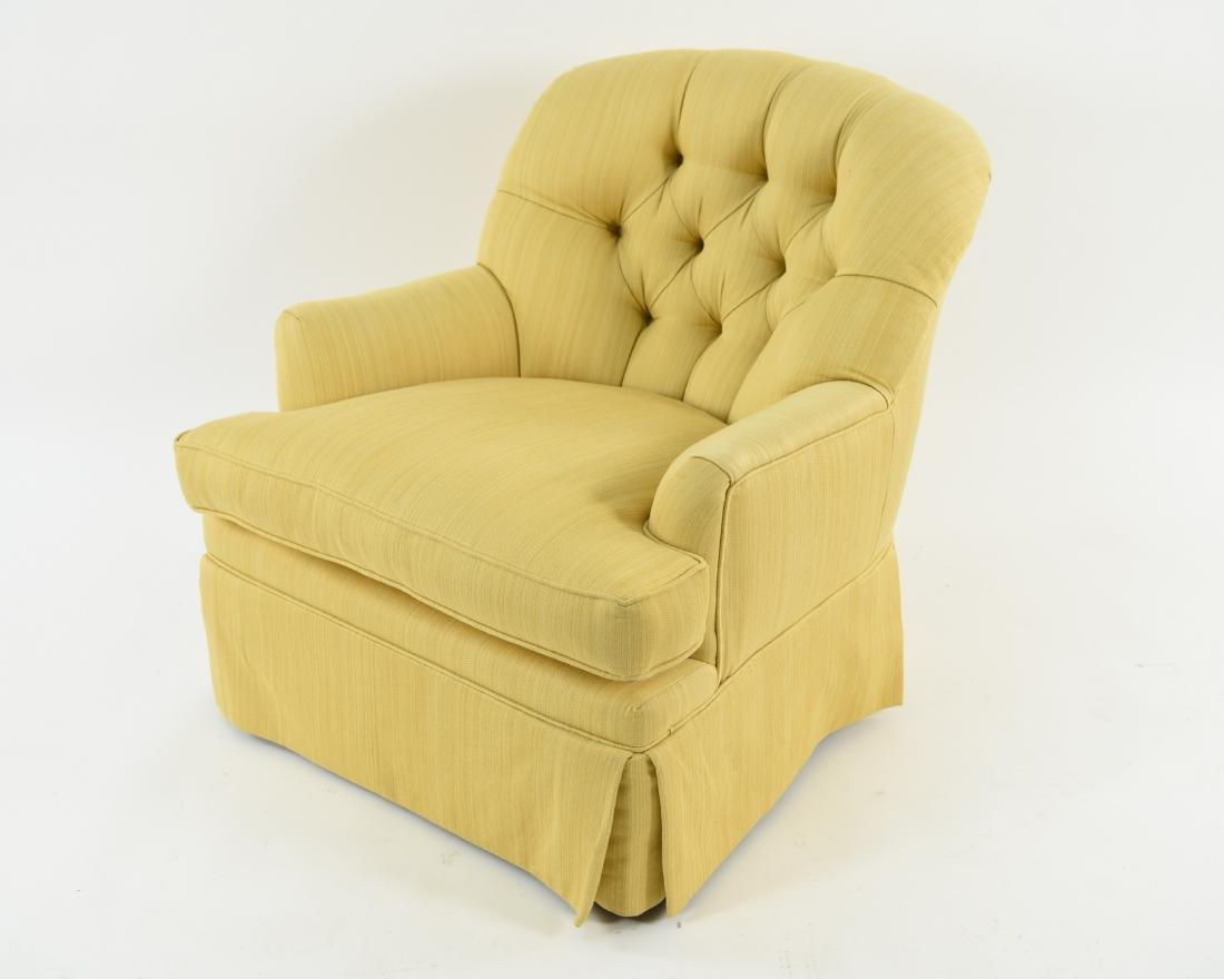 TUFTED YELLOW CLUB CHAIR - 8