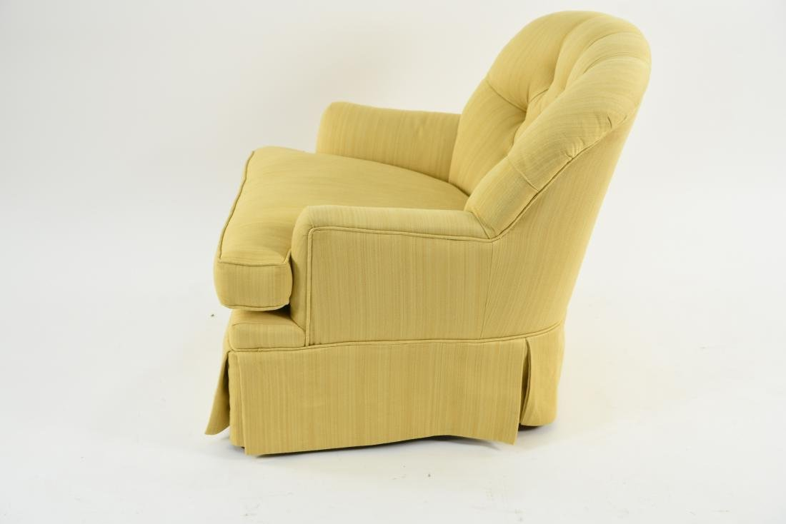 TUFTED YELLOW CLUB CHAIR - 9