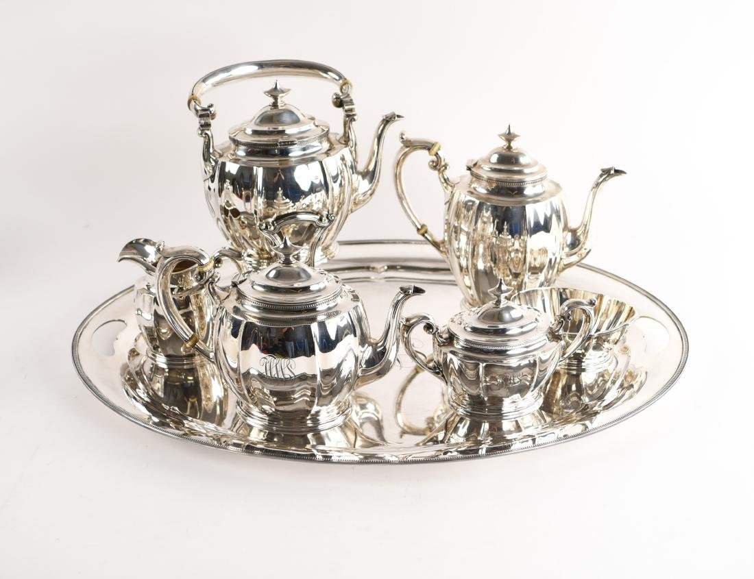 GORHAM STERLING SILVER TEA SET - 2