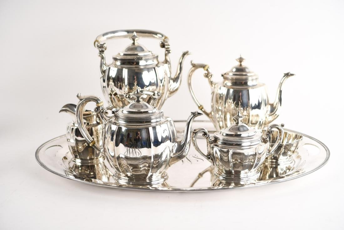 GORHAM STERLING SILVER TEA SET - 3