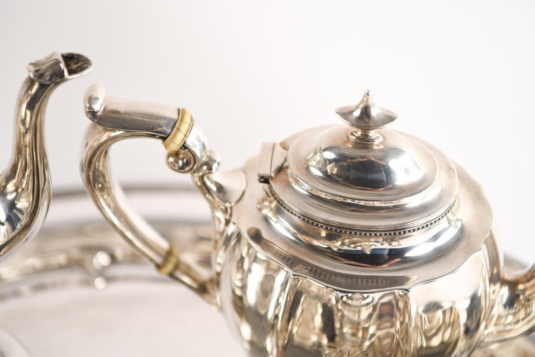 GORHAM STERLING SILVER TEA SET - 7