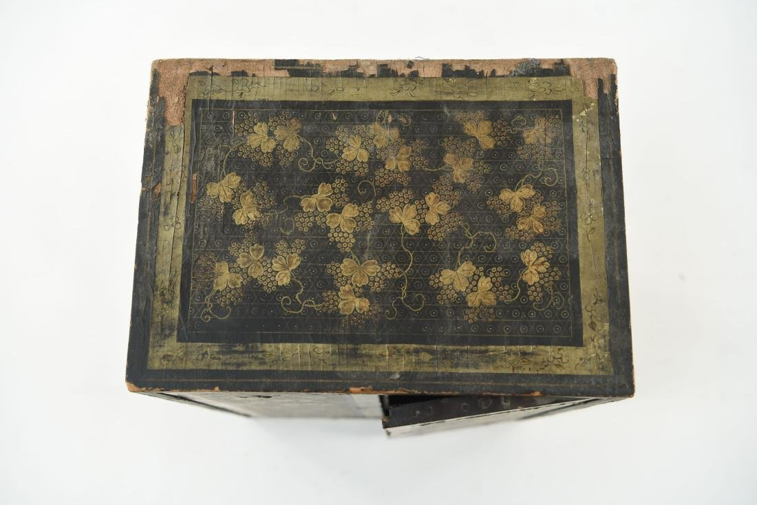 19TH C. JAPANESE LACQUERED BOX - 4