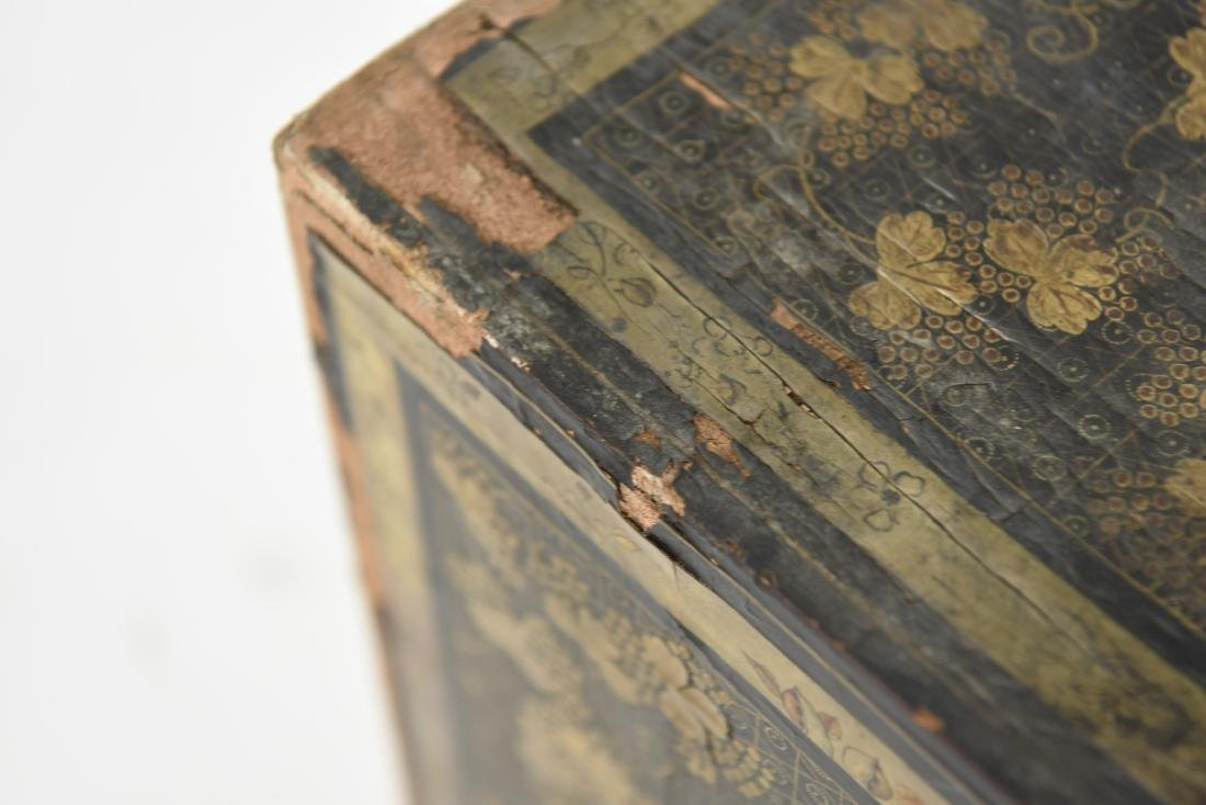 19TH C. JAPANESE LACQUERED BOX - 6