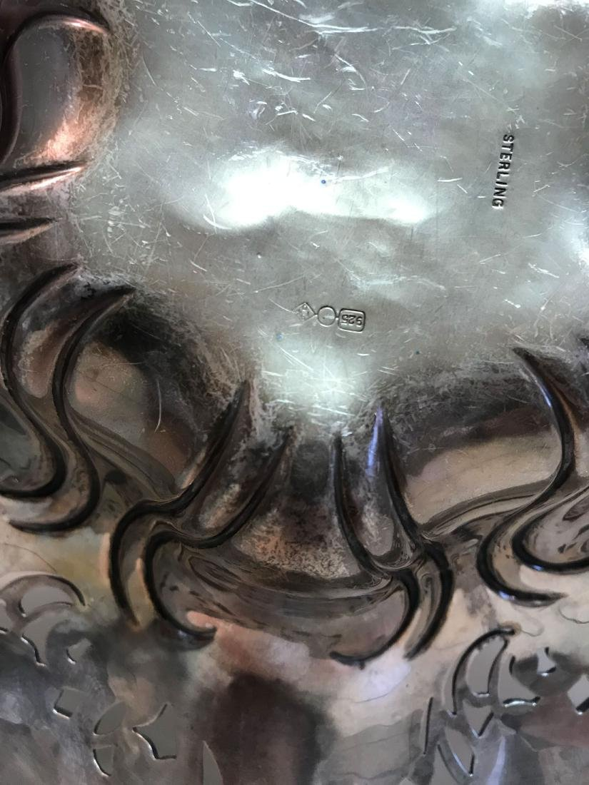 REPOUSSE STERLING SILVER BOWL - 6