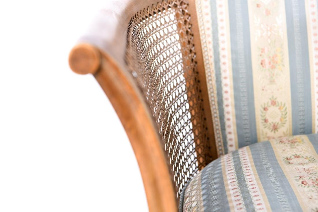 PAIR OF FRENCH CANED BERGERE CHAIRS - 5