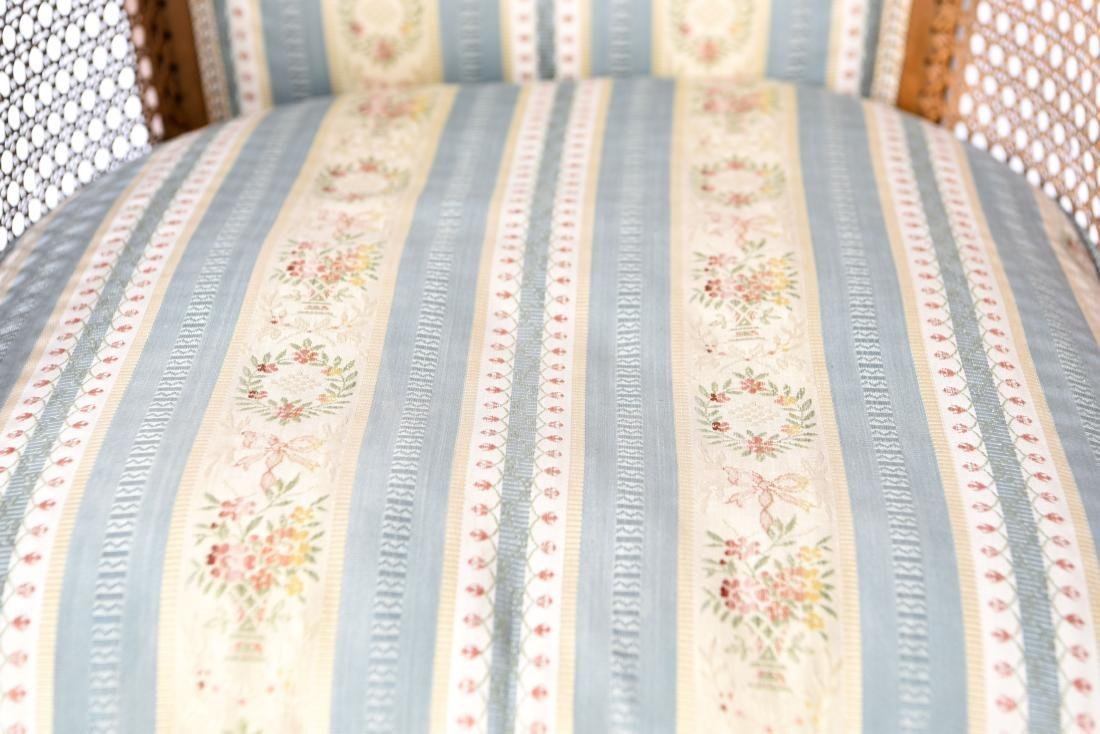 PAIR OF FRENCH CANED BERGERE CHAIRS - 6