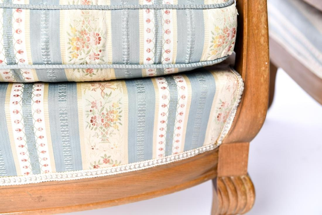 PAIR OF FRENCH CANED BERGERE CHAIRS - 7